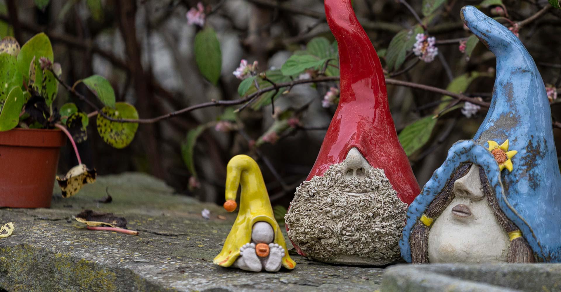 thema workshop in klei atelier: maak je eigen tuinkabouter